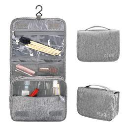 3 estilos 6 colores maquillaje impermeable Bolsas de cosméticos Bolsas de aseo Bolsas organizador colgante de viajes para baño y escuela