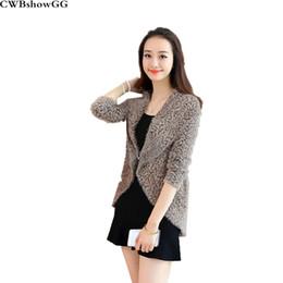 600c3ce030f Korean long open sweaters online shopping - CWBshowGG New women s Korean  version Leopard sweater cardigan