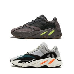 Kanye Boots UK - (Size:US5-US13) Newest kanye west 700 Mauve color sneakers original designer shoes mens shoes man running trainers men women boots with box