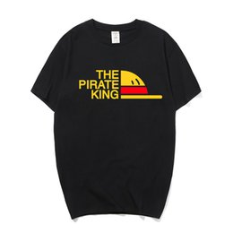 37883f69 One Piece Anime Clothing The Pirate King T Shirt Luffy Cosplay Costume  Summer T Shirt For Men Clothes Cotton Camisetas Hombre