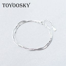 $enCountryForm.capitalKeyWord NZ - 925 Sterling Silver Multilayer Snake Bone Bracelet Simple Multi Layer Chain Bracelets Women Hand Accessories