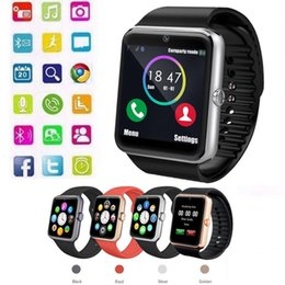 Battery Slot NZ - GT08 Bluetooth Smart Watch Slot and NFC Health Watchs for Android Samsung and IOS Apple iphone Smartphone Bracelet Smartwatch AAA1342