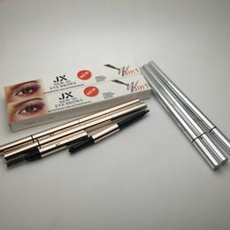 Wholesale Eye Pencils Australia - New 3D eye brows 3 in1 Air Cushion Triad Eyebrow Pencil powder Brush Waterproof Long lasting MakeUp EyeBrow pencil Cosmetic eyebrow pen