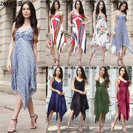 2018 spring explosions Amazon Europe and the United States fashion summer large  size women s new wrapped chest dress Q29 97bd55def7b7