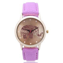Wholesale Exquisite Women Luxury Watch PU Leather Strap Brand Ladies Watches Clock Top Vogue Elephant Design Wristwatches Female Gifts Montre Femme