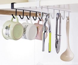 $enCountryForm.capitalKeyWord NZ - 100pcs hot Multi-function Kitchen Storage Rack Cupboard Hanging Hook Hanger Bathroom Sundries Hook Shelf Storage Organizer Holder