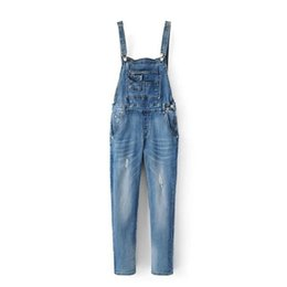 079b2b975372 MORUANCLE Lady Ripped Jeans Overalls Fashion Washed Distressed Denim  Jumpsuits For Women Suspender Pants Bodysuits Blue Grey