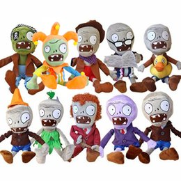 Plants Vs Zombies Stuff Toy NZ - 10pcs lot 30cm Plants vs Zombies PVZ Zombies Stuffed Plush Toys PVZ Soft Plush Toy Doll Game Figure Statue Toys for Kids Gifts