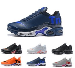 Discount air plus shoes - 2018 Air Mercurial Plus Tn Ultra SE Black White Orange Running brown Shoes outdoor TN shoes Women Mens Trainers Sports S