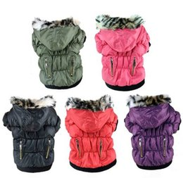 Wholesale Pet Cat Apparel Dog Clothes Pets Doggy Puppy Warm Winter Coat Zipper Fold Hoodies Jackets Dog Costume
