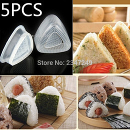 bento tools 2019 - Kitchen Practical 5 Sets Form Sushi Mould DIY Onigiri Rice Ball Bento Press Maker Mould Sushi Tool discount bento tools
