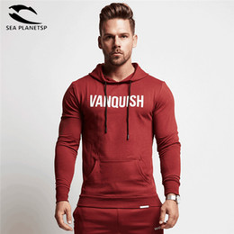 Chinese  Hot Mens Gyms Hooded Jacket Sweatshirts Mens Pure Cotton Hoodies and Joggers Bodybuilding Sweatshirts Free Shipping manufacturers