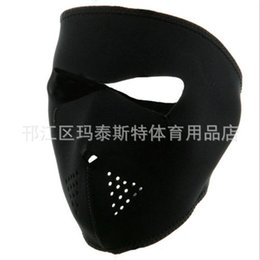 e05ae825648 Bicycle Full Face Mask Black Skiing Hiking Mountain Road Bike Polyester Mask  Creative Anti Wear Portable Cycling Supplies 7mt jj