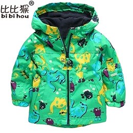 boys dinosaur jacket Canada - 2017 New Children Outerwear Clothing Boys Girls Dinosaur Hoodie Rainsuit Rain Coat Baby Kids Child Sports Clothes Jackets Coats