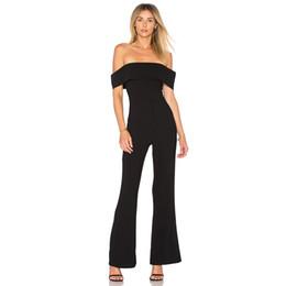 91f6ed38c076 2018 new arrival women Sexy off shoulder black Jumpsuit slash neck celebrity  Evening Party Bodycon Bandage Jumpsuits wholesale