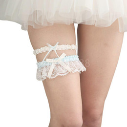 88d76c76fd0 Wedding Bridal White Lace Garter Set Keepsake   Toss Prom Party Accessories