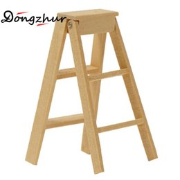 $enCountryForm.capitalKeyWord UK - Dongzhur Miniaturas 1:12 Dollhouse Furniture Wooden Lubricious Mini Little Stairs Miniature Doll House Garden Accessories Ladder