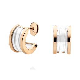 $enCountryForm.capitalKeyWord UK - COSEN Classic Style Bulgaria Stud Earring ,White Ceramic semi-circular Signature Earrings Jewelry Woman Gift Birthday Gift