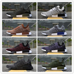 Discount army duck fabric - 2018 NMD R1 STLT Primeknit Porter Duck Camo Army Zebra Triple Black Mens Women Running Shoes Sport Nmds Runner Primeknit