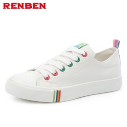 Discount renben shoes black canvas - Spring and Autumn Breathable Canvas Shoes Women Men Lovers Shoes Fashion for Women Brand renben Free Shipping
