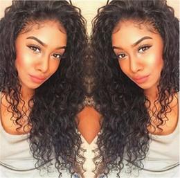Kinky Peruvian Lace Wig Australia - Kinky Curly Silk Top Lace Front Human Hair Wigs Virgin Peruvian Glueless Human Hair Color #1B for Black Women