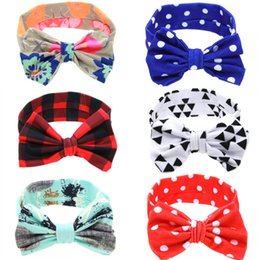 Wholesale Baby girl headbands big bow headband designer head band floral multi color hair accessories birthday party wear