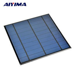 5v mini solar panel UK - Batteries Cells, AIYIMA 5V 4.5W Epoxy Solar Panel Photovoltaic Panel Polycrystalline Solar Cell Mini Sun Power Energy Module DIY