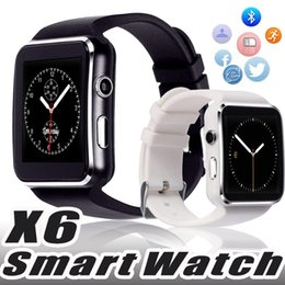 $enCountryForm.capitalKeyWord NZ - X6 Smart Watches With Camera Touch Screen Support SIM TF Card Bluetooth Smartwatch For iPhone X Samsung Note 9 Android Phone with RetailBox
