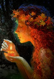 $enCountryForm.capitalKeyWord Australia - Victor Nizovtsev Oil Painting Fantasy Mermaid series Art Reproduction Giclee Print on Canvas Modern Wall Home Art office Decoration VN061