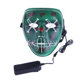 Discount the purge mask LED Light Mask Up Funny Mask from The Purge Election Year Great for Festival Cosplay Halloween Costume New Year Cosplay