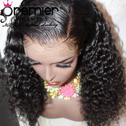 AffordAble hAir online shopping - Premier Affordable Lace Wigs Glueless Lace Front Wigs With Natural Hairline Pre plucked Indian Remy Hair Density Curly For American