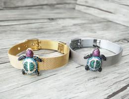 $enCountryForm.capitalKeyWord Australia - 5 Pieces Turkish Style tortoise Double Bails Connector,Micro pave CZ zircon Strap bracelet,adjustable bracelet Jewelry BG181