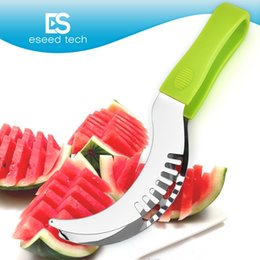 Wholesale TV Products in Slice Right Watermelon Slicer Knife Slice Best Rated Watermelon Cutter Ultra Sharp Stainless Steel Blades