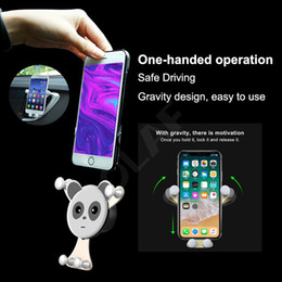 Car phone holder Cute online shopping - Car Phone Holder Mobile Phone Stand Cute Smile Face Universal Air Vent Gravity Sensor Phone Holder For Iphone x Samsung s8 With Retail Pack