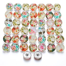 Snap Glasses For Australia - Wholesale Noosa Chunks Snap Jewelry Sexy Lips Halloween Lotus Flowers Round Glass 18mm Snap Buttons for Snap Bracelet Bangle Necklace