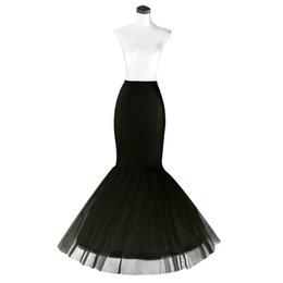 $enCountryForm.capitalKeyWord UK - Free Shipping Mermaid Petticoat 1 Hoop Bone Elastic Wedding Dress Crinoline 2018 Bridal Petticoat Cheap
