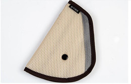 Seat Belt Clip Children UK - Car Seat Belt Holder Child Regulator Mesh Triangle Safety Restraint Baby Car Safety Seat Belts Adjuster Clip Accessories