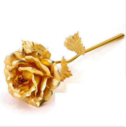 $enCountryForm.capitalKeyWord UK - 24k Golden Rose Gold Foil Plated Rose Decoration Gold flore artificiales Dipped 24K artificial flower Personalized