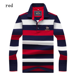 polo-t-shirts großhandel-Neue Tops Tees Herren Polo Shirts Fashion Style Winter Striped Marke Langarm Polo Shirt Herren Polo Solid Polo Shirt