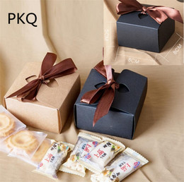 $enCountryForm.capitalKeyWord Australia - Small kraft paper box with ribbon 30pcs Cookie cake Packaging Box Candy Biscuit Chocolate Paper Carton Craft cardboard gift