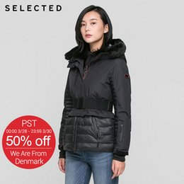 Water Proof Coatings Australia - SELECTED women white warm Wind proof water proof padded jacket winter coat female tops clothing 416422519
