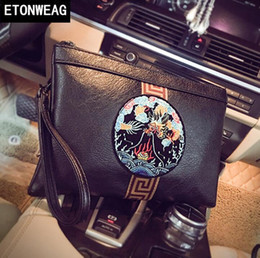 $enCountryForm.capitalKeyWord NZ - Factory direct brand men bag street fashion leather clutch bag large capacity leather envelope wrist bag Chinese embroidery clutch bags