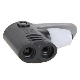 Tyre Tube Replacement Track Dual Head Valve Air Pump Adaptor Foot Hose B$CA