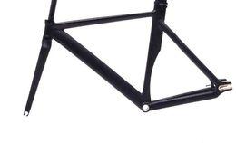 Discount 58cm frame - fixed gear bike frame 53cm 55cm 58cm matte black Bike frame Fixie Bicycle Aluminum Alloy