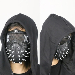 Wholesale street cosplay online – funny Halloween Punk Devil COS Anime Stage Mask Ghost Steps Street Rivet Death Masks Cosplay Stage Party Face Masks