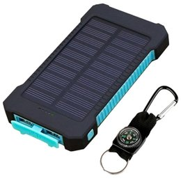 $enCountryForm.capitalKeyWord UK - 10000mAh Power bank Dual USB Solar Power Bank Portable Waterproof powerbank 10000 mah External Battery Charger for iPhone