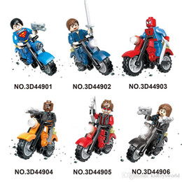 $enCountryForm.capitalKeyWord UK - high quality Mini figures motorcycle super man ninjial spiderman  Building Blocks Baby Brick toy Kids Gift from shenzhen free shipping