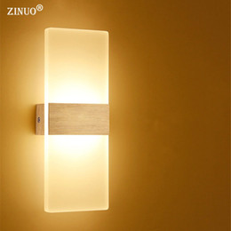 modern beds Australia - ZINUO 6W 12W Modern Led Wall Lamps Acrylic Bed Room Wall light Living Sitting Room Foyer Bathroom LED Wall Mounted Sconce AC220V