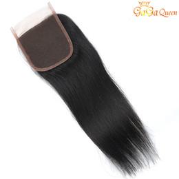 peruvian straight virgin hair color 2019 - Brazilian Curly Virgin Hair Lace Closure Free Unprocessed Peruvian Malaysian Indian Straight Wave Human Hair Closures No