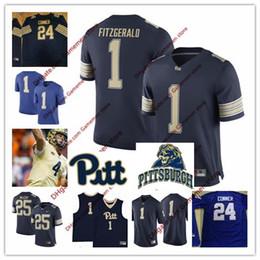 Men s Pittsburgh Pitt 25 Darrelle Revis 25 LESEAN MCCOY 1 LARRY FITZGERALD  24 James Conner 33 Tony Dorsett College football Stitched Jerseys c85d8c296